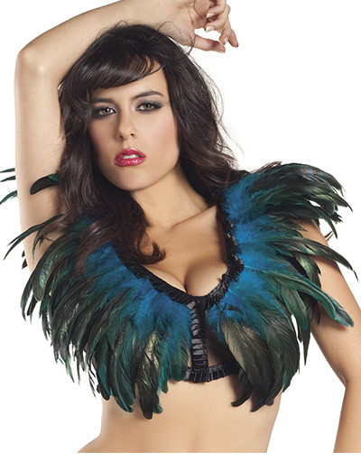 Blue Green Feather Top 1